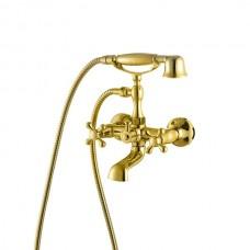 KAISER Carlson Style 44223-3 GOLD Смеситель для ванны с шаровым переключателем Золото