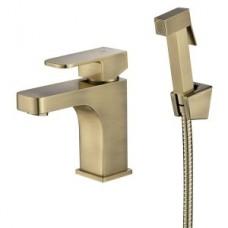 KAISER Sonat 34088-1 Bronze Смеситель для биде/раковины с гигиеническим душем, бронза