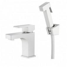 KAISER Sonat 34088-4 White Смеситель для биде/раковины с гигиеническим душем, белый