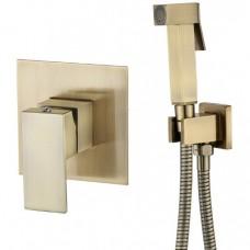 KAISER Sonat 34377-1 Bronze Смеситель скрытого монтажа с гигиеническим душем, бронза